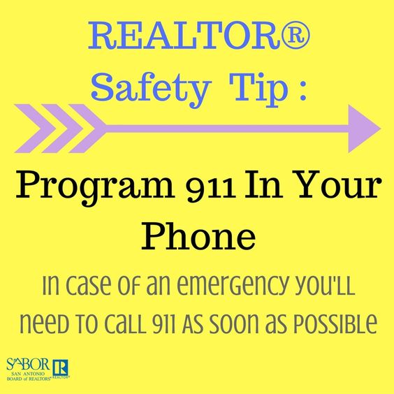 Realtor safety is most important! Be ready for any situation by having 911 ready to dial!