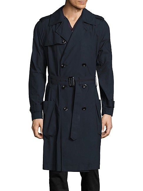 VINCE LIGHTWEIGHT COTTON TRENCH COAT