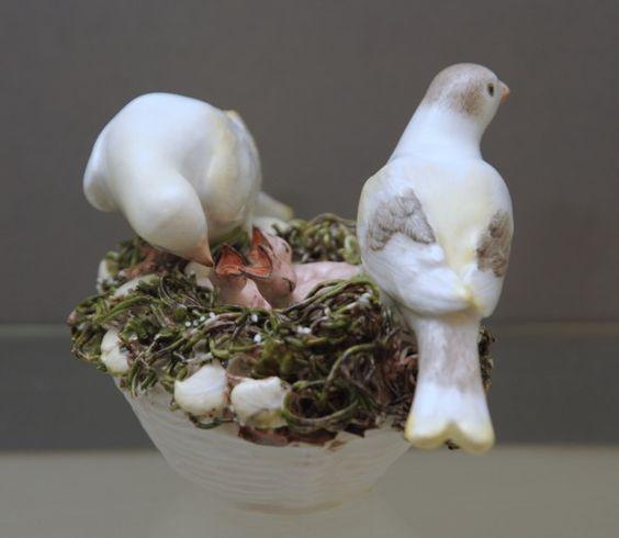 Meissen Model of a Birds Nest / c. 1750