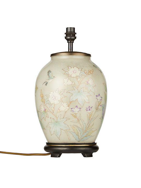 Jenny Worrall Pastel Floral Lamp Base Multi Lamp Lamp Bases