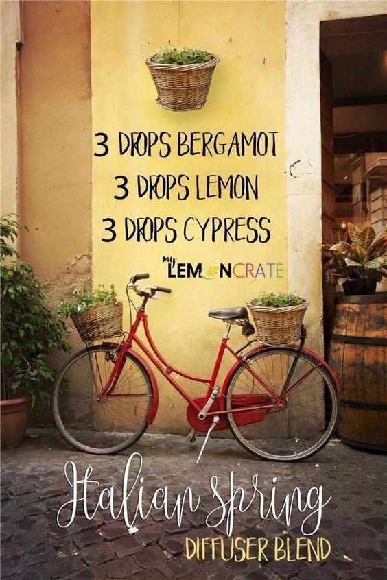 Young Living Essential Oils Diffuser Blend- Italian Spring, Bergamot, Lemon and Cypress