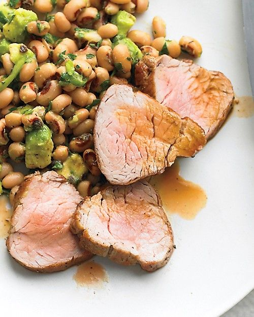 Redeye-Glazed Pork Tenderloin With Black-Eyed Peas Recipe — Dishmaps