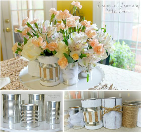Tin Can Vases!