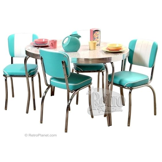 Oval Kitchen Table And Chairs: Oval Dinette Set With Channel Back Chairs