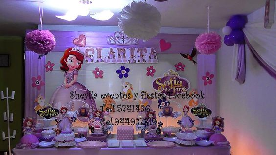 Decoraci n princesita sofia tortas decoraci n for Decoracion de tortas infantiles