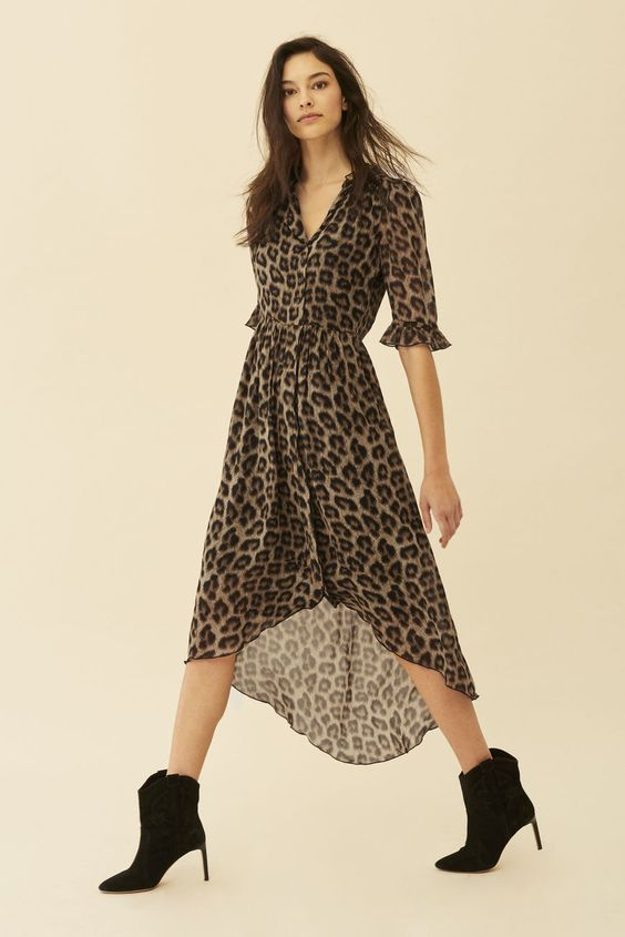 DRESS FIFI LEOPARD // ba&sh