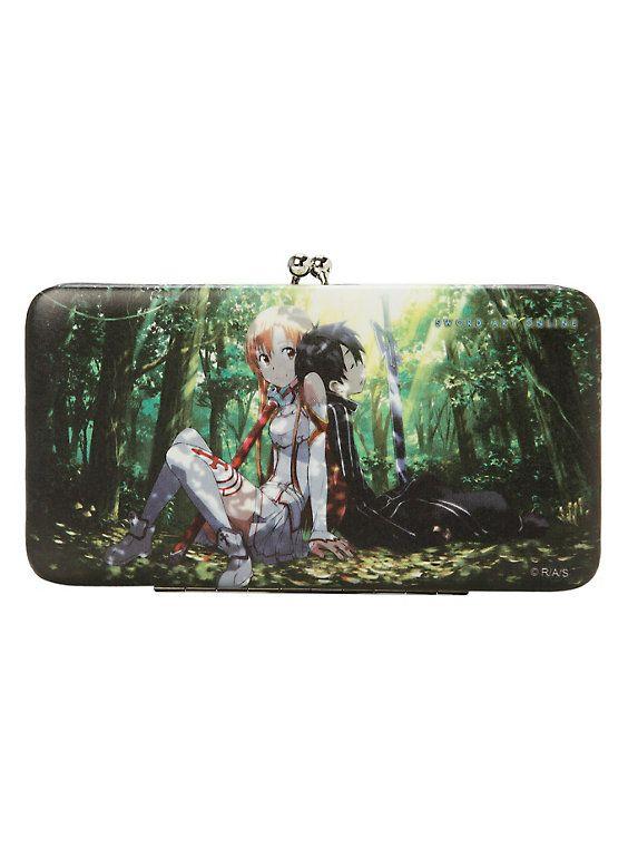 Sword Art Online Asuna and Kirito Hinge Wallet,