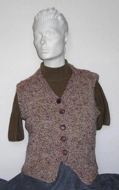 Easy Vest Knitting Pattern Knit - Sweaters Pinterest Vests, Knitting pa...