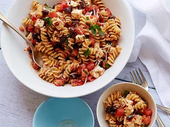 Pasta salad ina garten and feta on pinterest Ina garten summer pasta