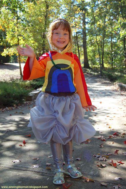 Sewing Like Mad: Rainbow costume