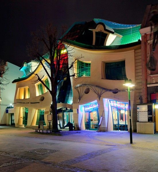 10 Modern Examples of Weird Architecture - the crooked house!