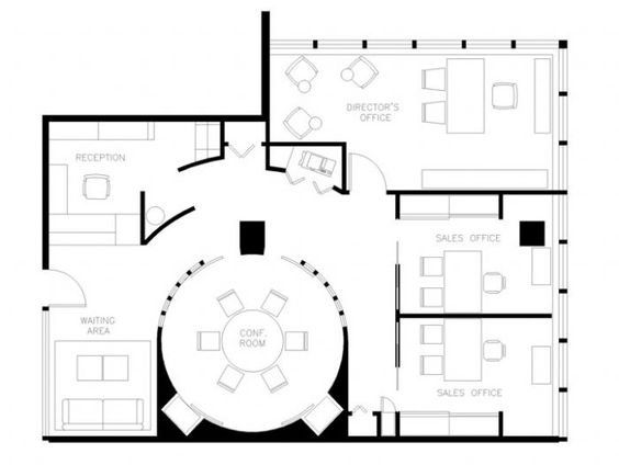 Small Office Floor Plan Small Office Floor Plans Office Plans Pinterest Small Homes