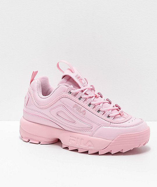 FILA Disruptor II Premium Light Pink Shoes | Light pink