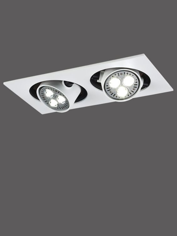 Led Ceiling Lights Usa : Asara adjustable recessed duet led downlighter white