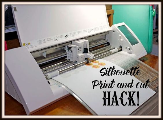 I use the print and cut function a great deal on my Silhouette Cameo.  Sometimes when creating a print and cut, especially on sticker paper, I don't alw