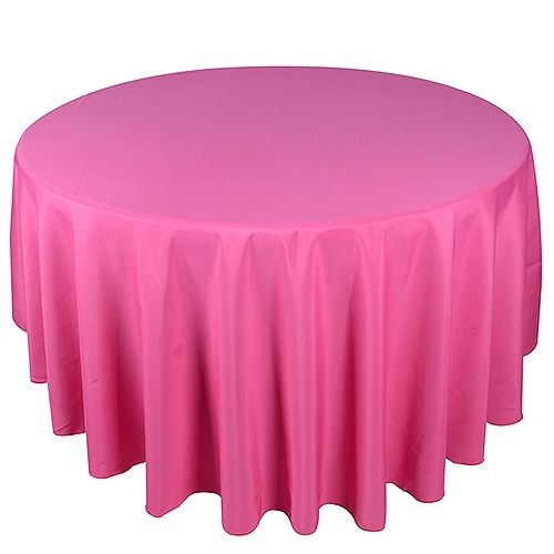 108 Inch Fuchsia 108 Inch Round Tablecloths 90 Inch Round Tablecloth Round Tablecloth Tablecloth Sizes