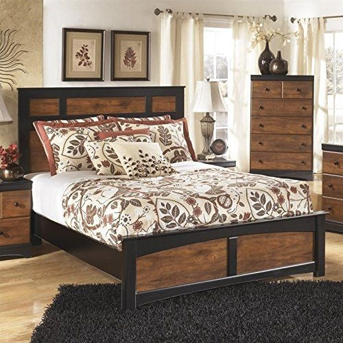 Ashley Aimwell Wood Queen Panel Bed In Brown Nice Of You To