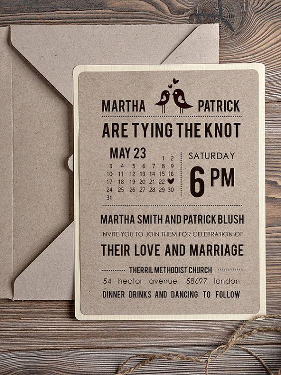2c2931f22270c202193752e1665a5b37 Wedding Invites Rustic Simple Invitations
