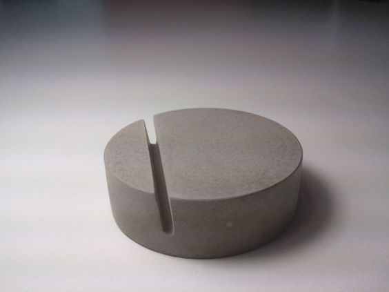 Kreteware Concrete place marker table card holder by kreteware