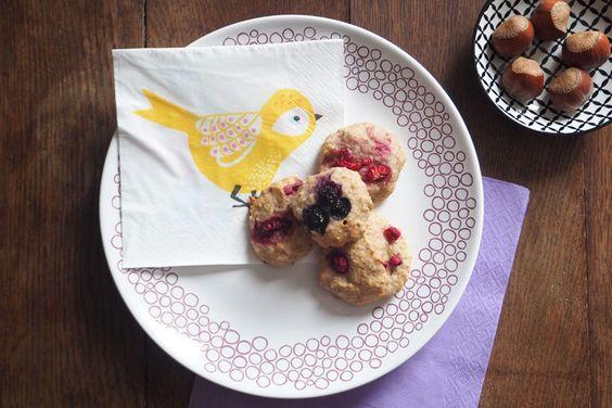 Weiche vegane Kekse – mit Bananen und Himbeeren, fettarm