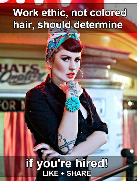 Work ethic not colored hair body modification tattoos for Tattoos in the workplace discrimination