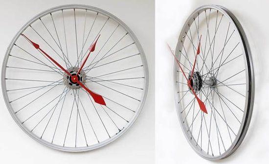upcycling fahrradteilen reifen uhr basteln diy home. Black Bedroom Furniture Sets. Home Design Ideas