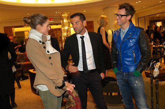 Olivia Palermo with Alexandre Birman and Brad Goreski.