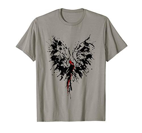 Abstract Inkblot Phoenix Artistic Watercolor Shirt Fashion