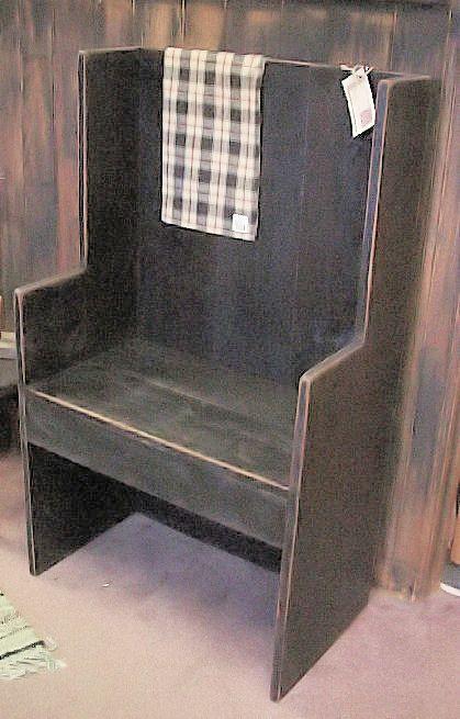 High Back Bench Primitive Furniture Amp Craft Decor