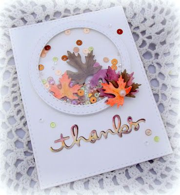 Such a fun Shaker by Melissa for the Simon Says Stamp Wednesday challenge (Thanks/Thanksgiving):