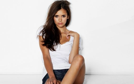 Nina Dobrev: Ninadobrev Girl, Dobrev Wallpaper, White Wallpaper, Nina Dobrev ️, The Vampire Diaries
