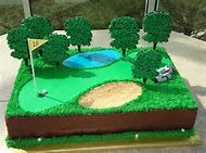 Golf Course Cake on Pinterest | Golf Cakes, Golf Themed Cakes and Golf ...