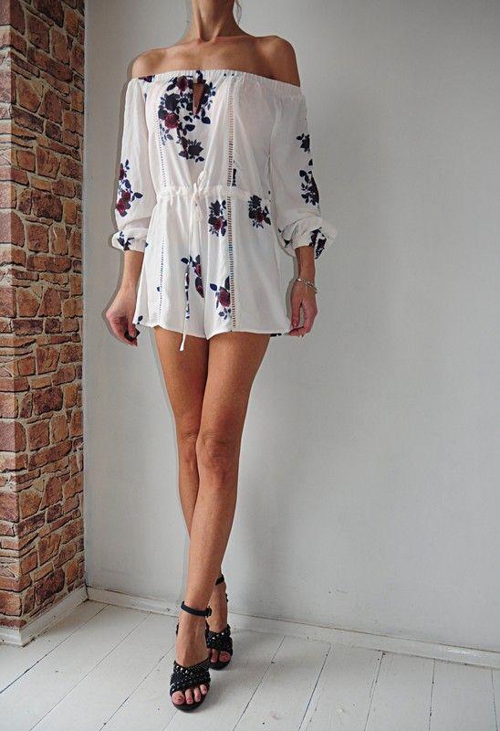 In The Style Kombinezon Kwiaty Hiszpanka Metka 38 Vinted Dresses Fashion Off Shoulder Dress