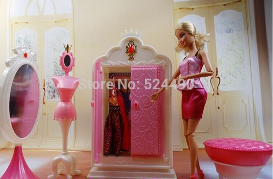 guarda roupa da barbie de brinquedo - Pesquisa Google