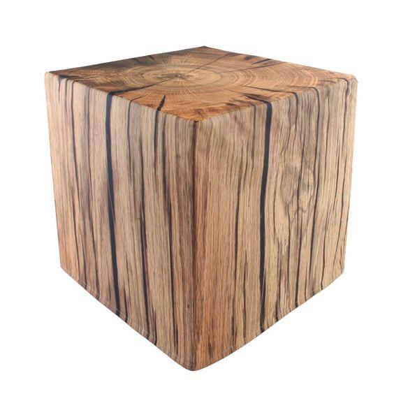 Cape Cod Sitzwürfel in Baumstamm-Optik, Größe 45 x 45 x 45 cm, 142140002: Amazon.de: Küche & Haushalt