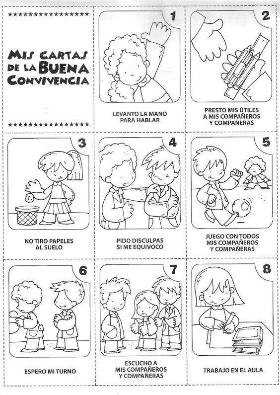 Dibujos para colorear normas de convivencia imagui for Actividades para el salon de clases de primaria