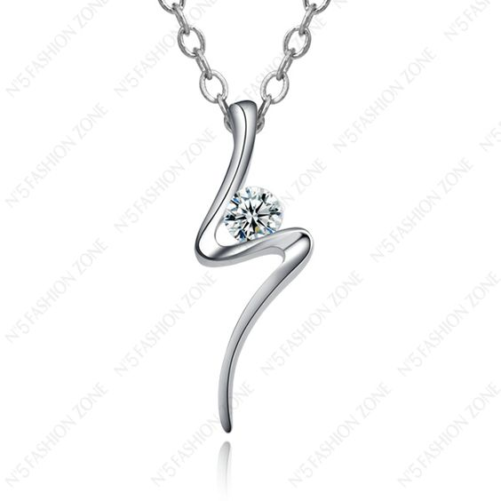 Amazing Price! New Arrival Unique 18K White Gold Plated Swarov Crystal Charm Necklace N109W1