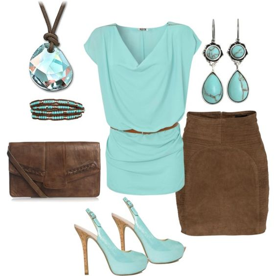 """mint chocolate...yum yum!"" by lkbecker ❤ liked on Polyvore"