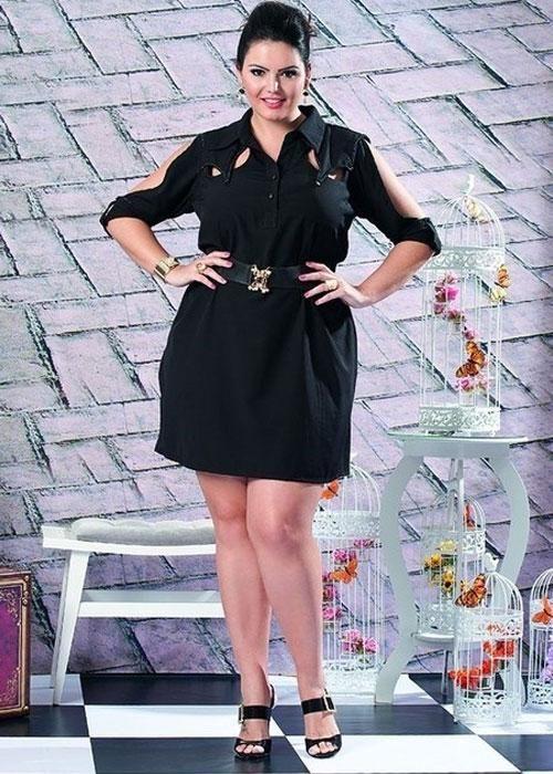 Vestido Chemisier Preto - Liló Fashion Plus Size - R$ 295,00