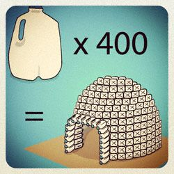 cardboard igloo  | Milk Jug Igloo | Green Planet For Kids