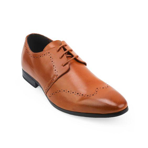 Xray Men's Medallion Toe Black/ Polyurethane Oxford Shoes