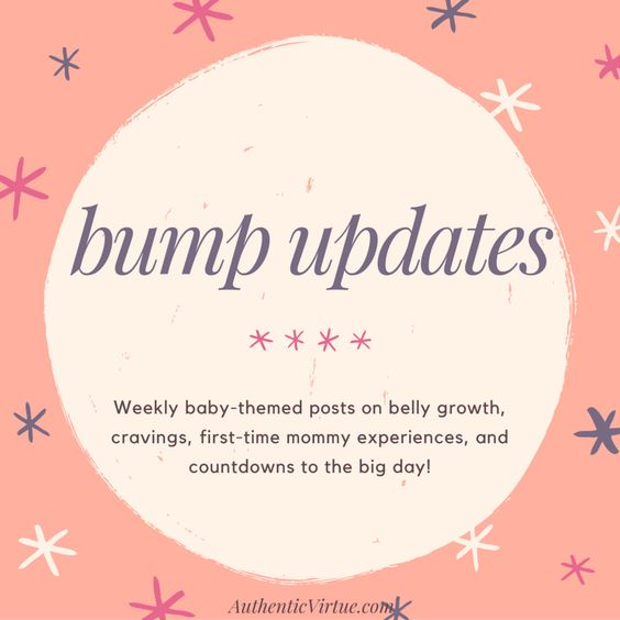Weekly pregnancy updates at AuthenticVirtue.com
