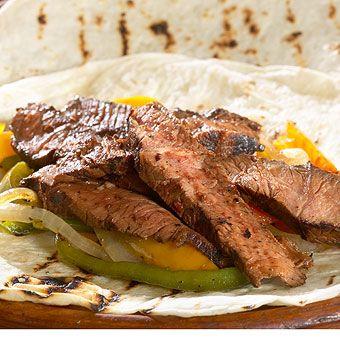 Roadhouse Steak Fajitas (can also be vegetarian) - great as a Cinco de Mayo meal!