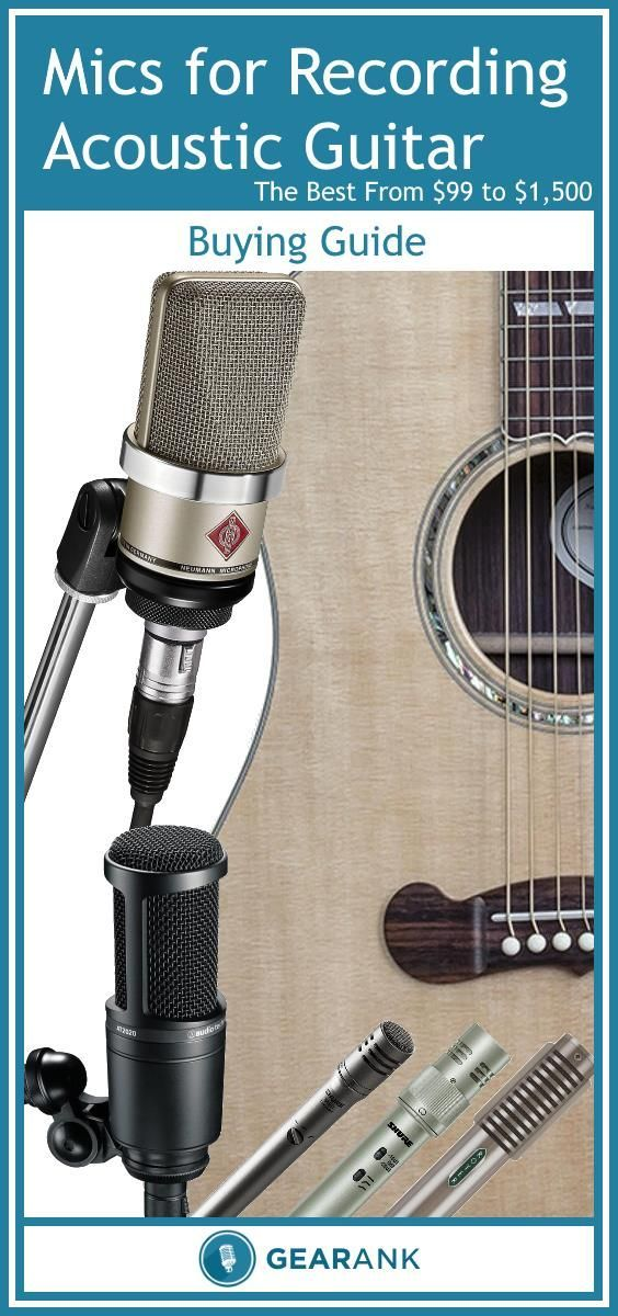The Best Microphones For Recording Acoustic Guitar If You Re Going To Do A Lot Of Recording Then You Ll Probably Record Acoustic Guitar Acoustic Guitar Studio