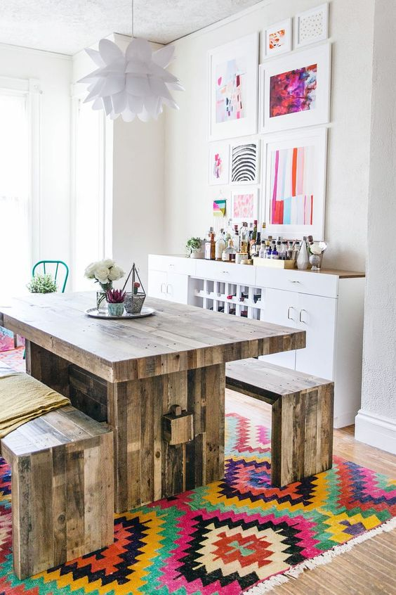awesome wood dining table! Looks great but the price of the material is too high for normal family.: