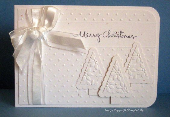 Stampin' Up! Christmas tree card using Pennant Punch