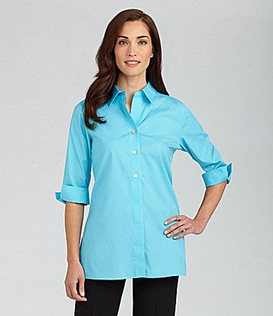 Investments Petites ButtonFront Tunic #Dillards