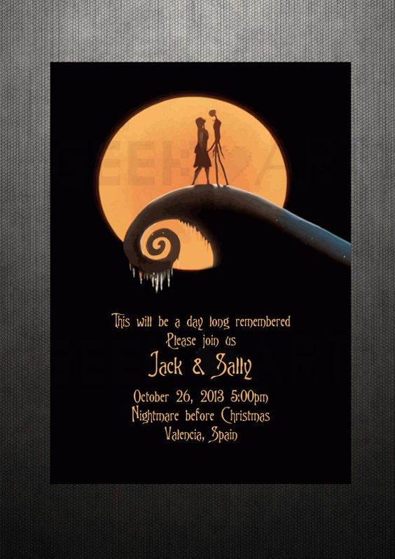 The Nightmare Before Christmas Wedding Invitations for awesome invitations template