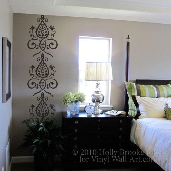 Vinyl Wall Decal Floral Wallpaper Strip Master Bedrooms