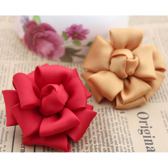 5 pcs Accessories diy handmade fashion flower corsage hair accessory decoration flower semi-finished product . $9.26